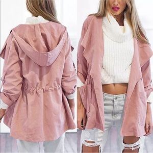 Jackets & Blazers - NWT✨ Light Pink Drawstring Trench Coat 💕
